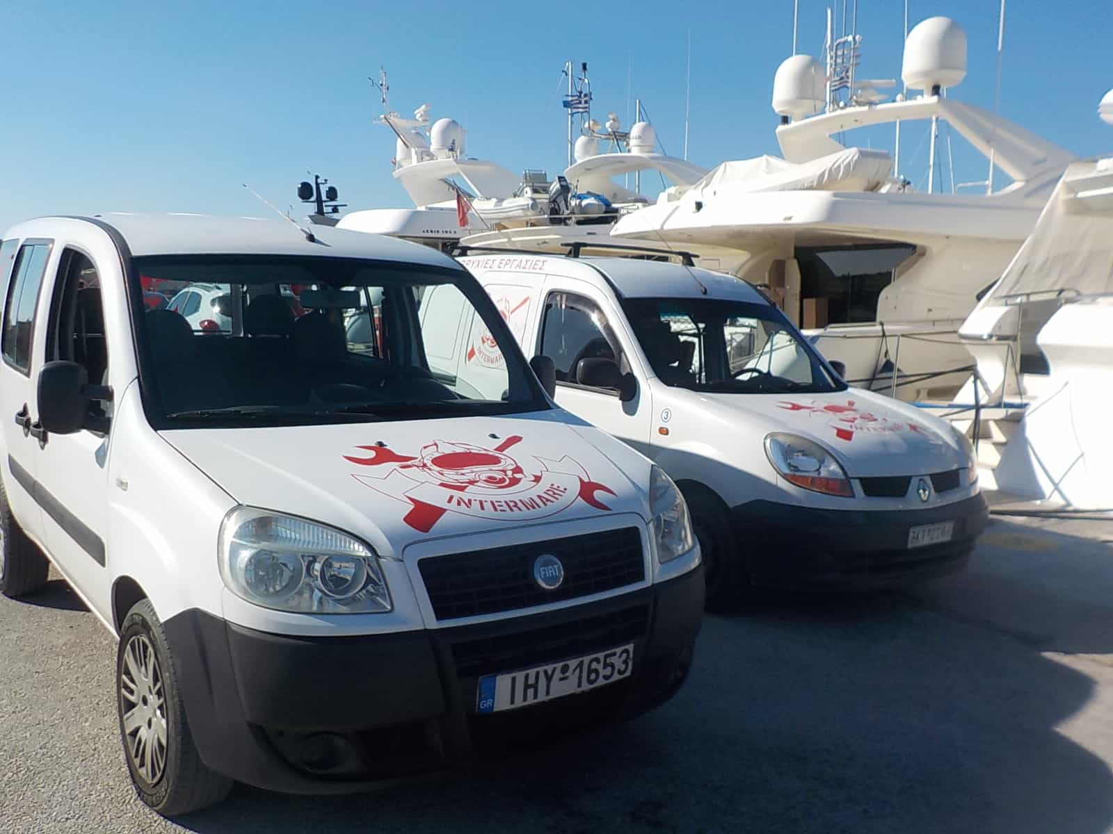 σε ετοιμότητα τα οχήματα intermare divers στην μαρίνα Αλίμου